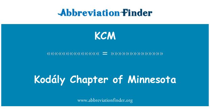 KCM: Kodály Chapter of Minnesota