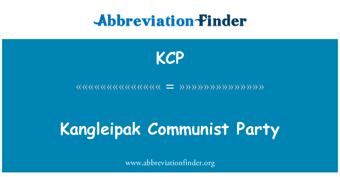KCP: Kangleipak Communist Party