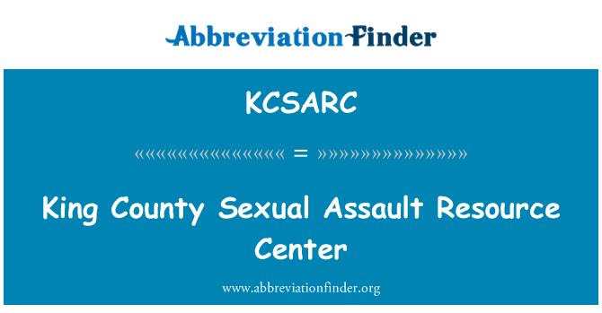 KCSARC: King County cinsel saldırı Kaynak Merkezi
