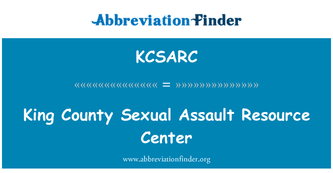 KCSARC: King County seksuaalkuritegude Resource Center