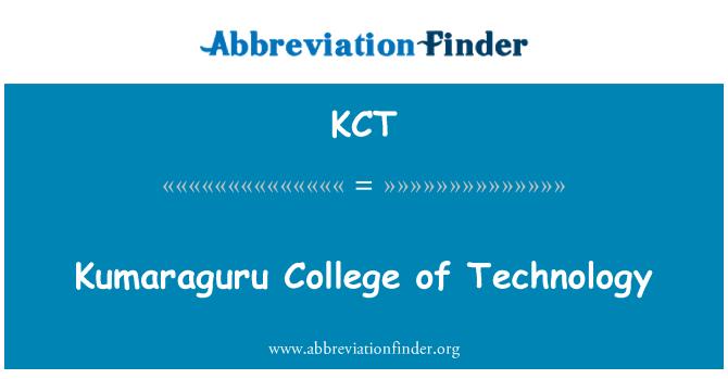 KCT: Kumaraguru College of Technology