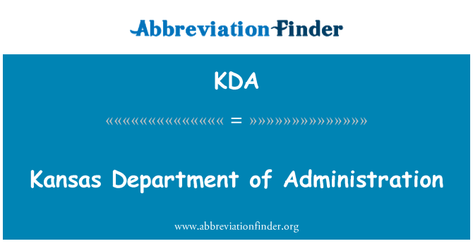 KDA: Kansas Department of Administration