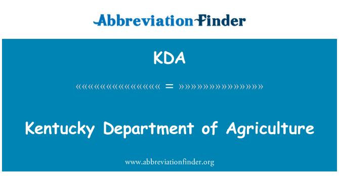KDA: Kentucky Department of Agriculture