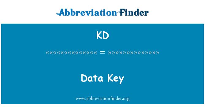 KD: Data Key