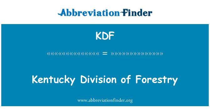 KDF: División de Kentucky de la silvicultura