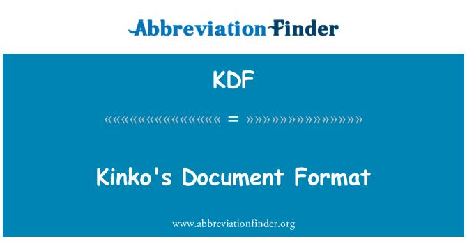 KDF: Formato de documento de Kinko