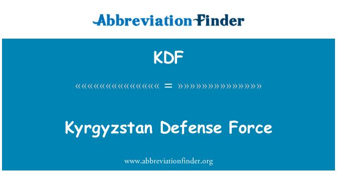 KDF: Fuerza de defensa de Kirguistán