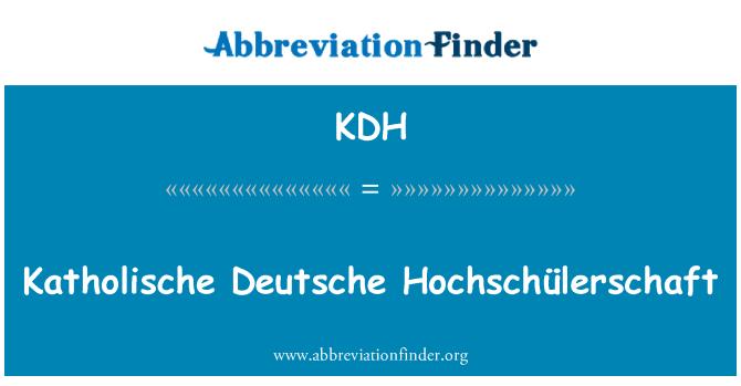 KDH: Deutsche Hochschülerschaft Katholische