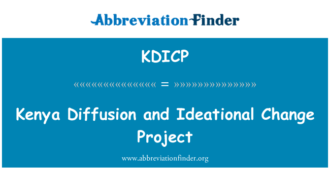 KDICP: Kenya Diffusion and Ideational Change Project