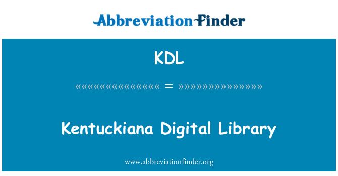 KDL: Kentuckiana Digital Library
