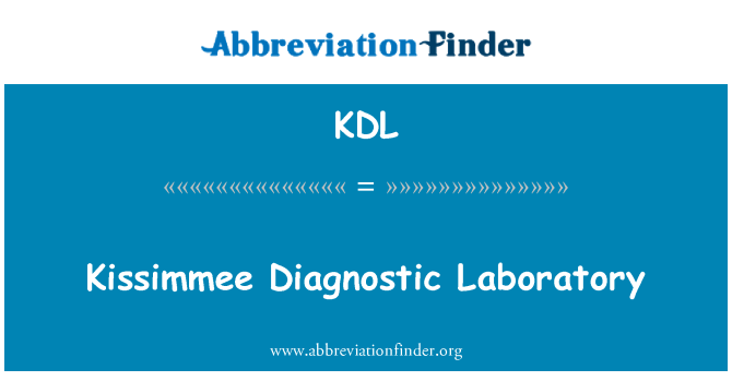 KDL: Kissimmee Diagnostic Laboratory