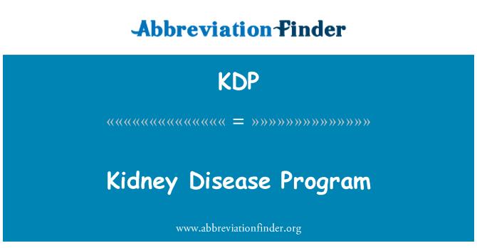 KDP: Kidney Disease Program
