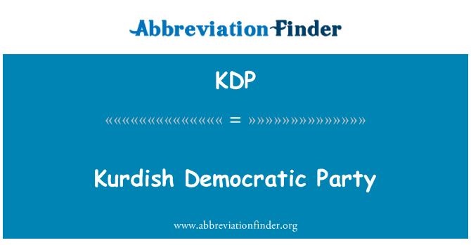 KDP: Kurdish Democratic Party