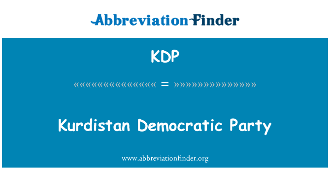 KDP: Kurdistan Democratic Party
