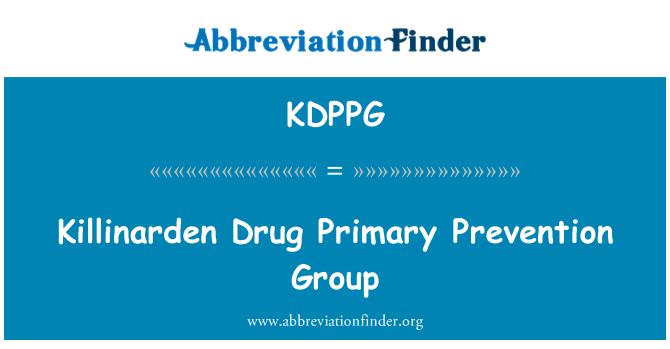 KDPPG: Killinarden Drug Primary Prevention Group