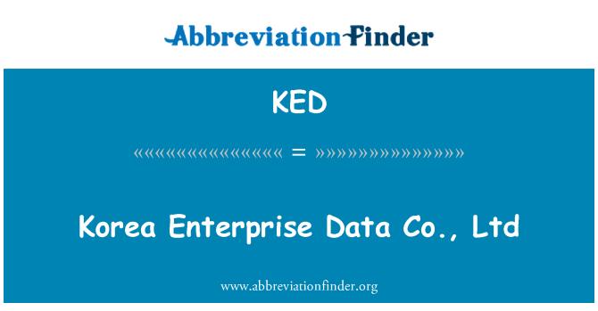 KED: Korea Enterprise Data Co., Ltd