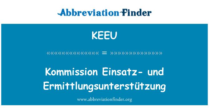 KEEU: Kommission Einsatz- und Ermittlungsunterstützung