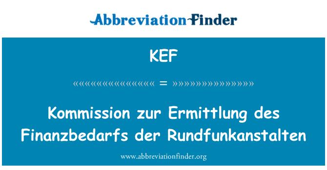 KEF: Kommission zur Ermittlung des Finanzbedarfs der Rundfunkanstalten