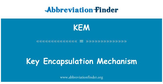 KEM: Key Encapsulation Mechanism