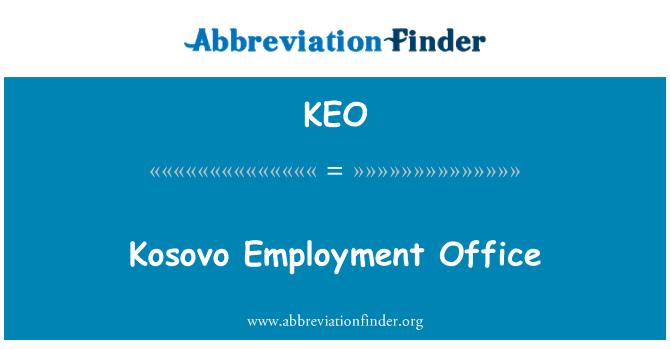 KEO: Kosovo Employment Office