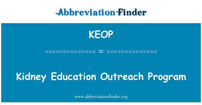 KEOP: Kidney Education Outreach Program