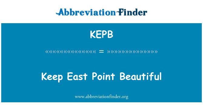KEPB: Keep East Point Beautiful
