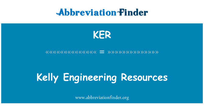 KER: Kelly Engineering Resources