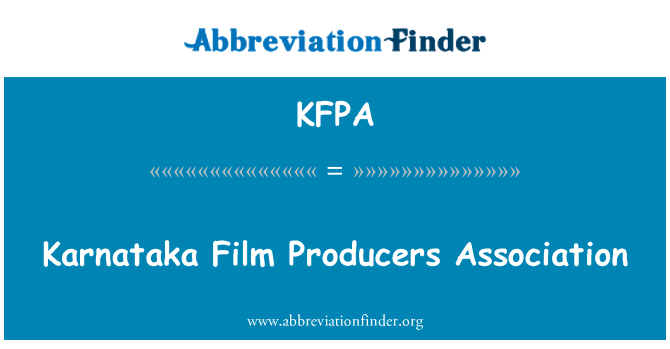 KFPA: Asociación de productores de cine de Karnataka