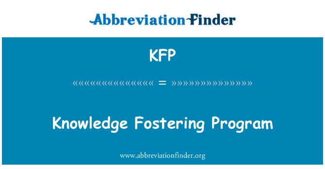 KFP: Knowledge Fostering Program