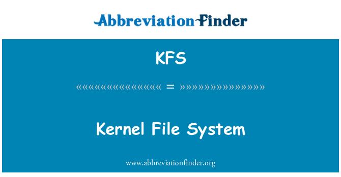 KFS: Kernel File System
