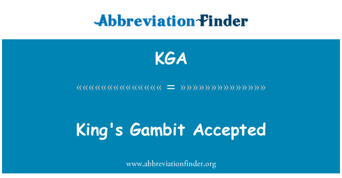 KGA: King's Gambit Accepted
