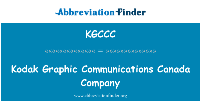 KGCCC: Kodak Graphic Communications Canada Company