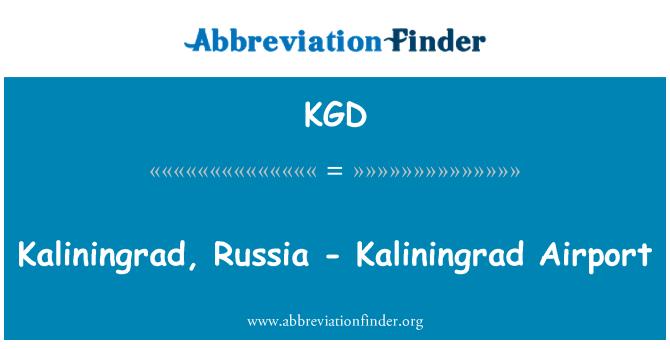 KGD: Kaliningrad, Russia - Kaliningrad Airport