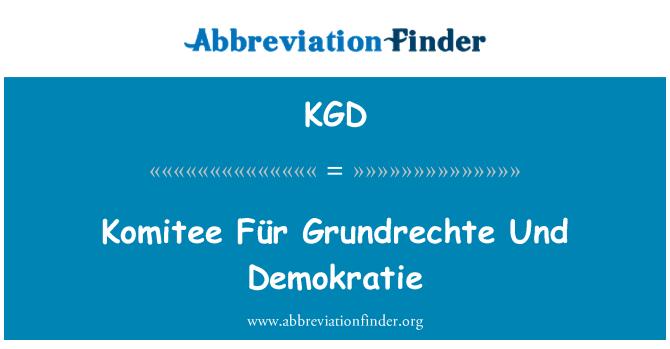 KGD: Komitee Für Grundrechte Und Demokratie