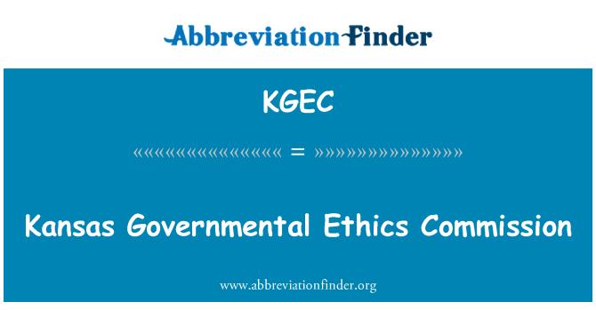 KGEC: Kansas Governmental Ethics Commission