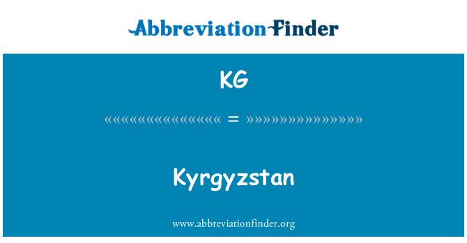 KG: Kyrgyzstan