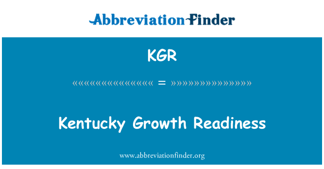 KGR: Kentucky Growth Readiness