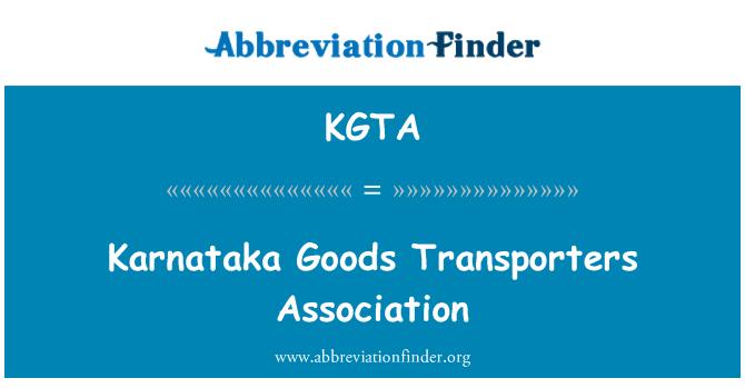 KGTA: Asociación de transportistas de mercancías Karnataka