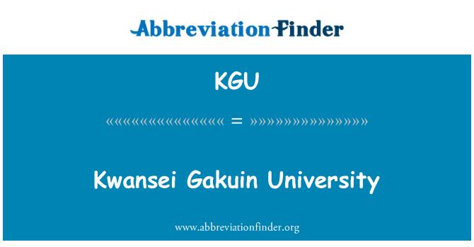 KGU: Kwansei Gakuin University
