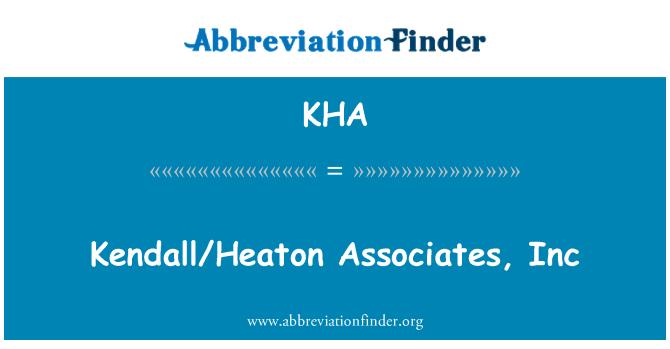 KHA: Kendall/Heaton Associates, Inc