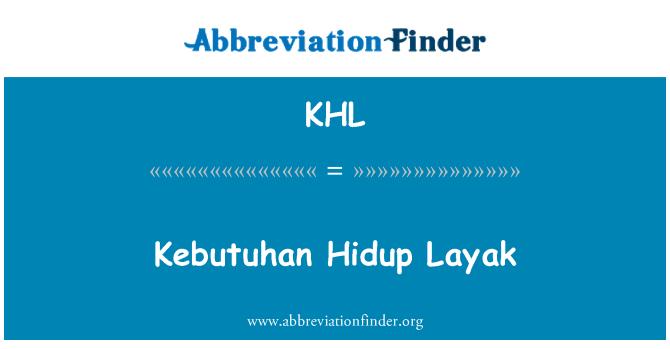 Khl Definition Kebutuhan Hidup Layak Abbreviation Finder