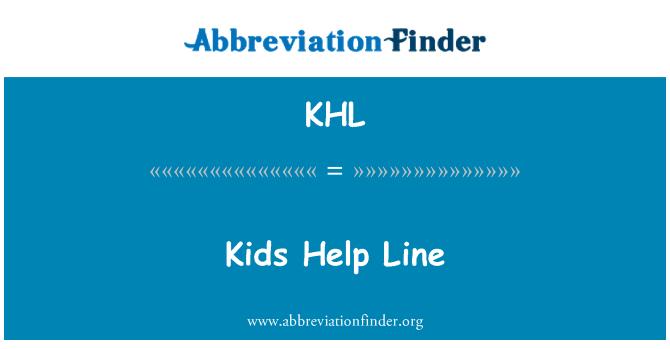 KHL: Kids Help Line