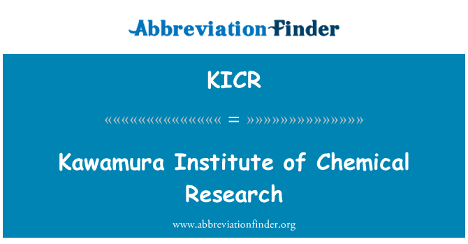 KICR: Kawamura Institute of Chemical Research