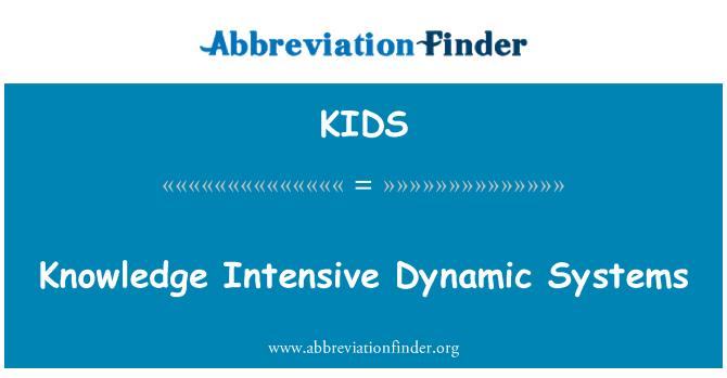 KIDS: Conocimiento intensivo sistemas dinámicos