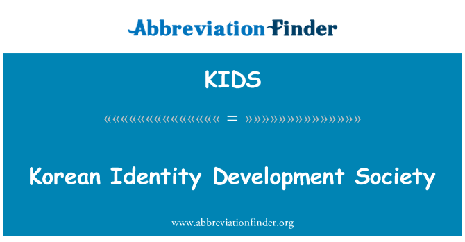 KIDS: Sociedad de desarrollo de identidad coreana