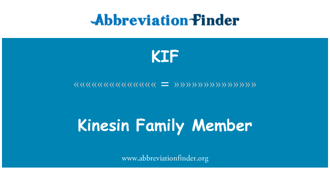 KIF: Kinesin Family Member