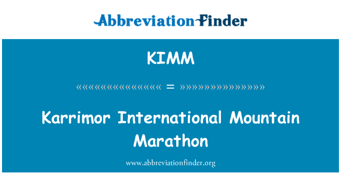 KIMM: Karrimor International Mountain Marathon