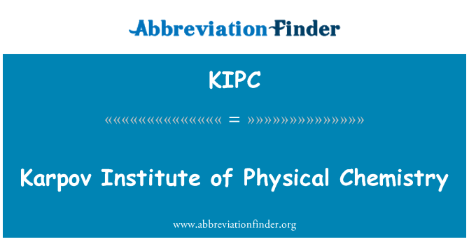 KIPC: Karpov Institute of Physical Chemistry