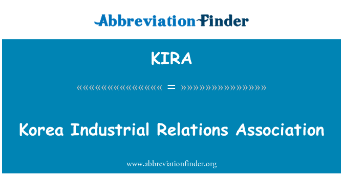 KIRA: Korea Industrial Relations Association