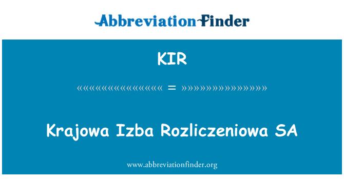 KIR: Krajowa Izba Rozliczeniowa SA